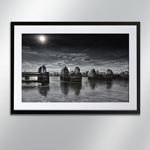 London Thames Barrier, Wall Art, Cityscape, Fine Art Photography