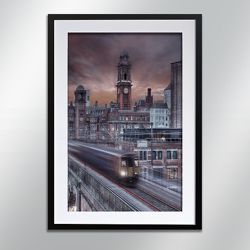 Manchester Refuge And Train, Wall Art, Cityscape, Fine Art Photography