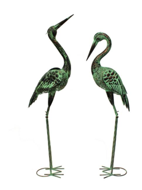 Vintage Metal Egret