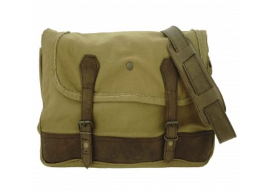 TUSCANY GREEN CANVAS UNISEX CROSSBODY/MESSENGER BAG
