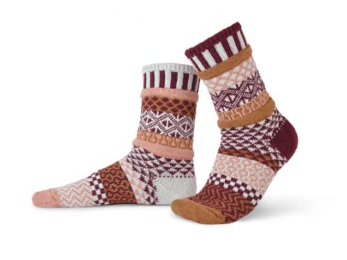 Amaranth Crew Socks
