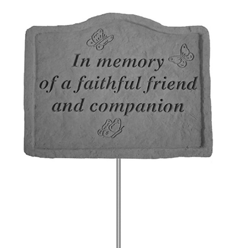 In Memory of a Faithful Friend Stake