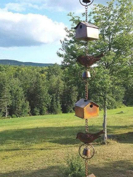 Bird House and Birds Rain Chain