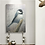 Thumbnail: Chickadee Resting on Branch, Large Oil Painting on Wood