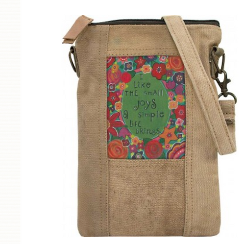 Small Joys - Recycled Military Tent - Crossbody Bag