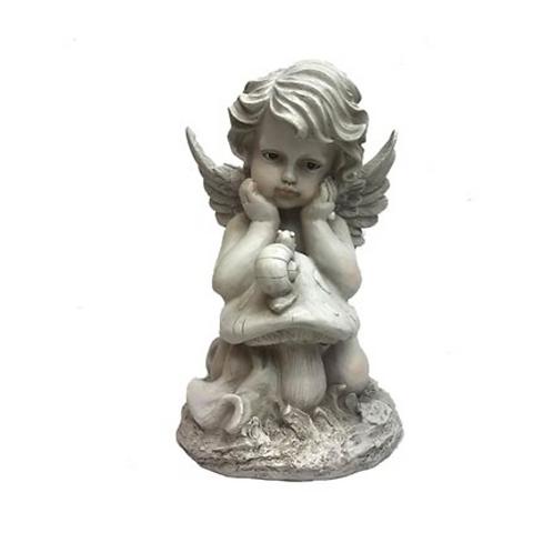 Angel with a Snail on a Mushroom-Resin