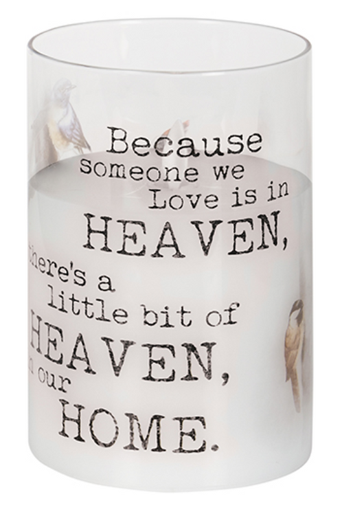 "Heaven in Our Home 6"""" LED Memorial Hurricane Candle"