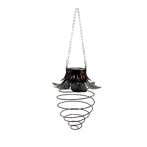 Large Metal Solar Spiral -Hanging Light