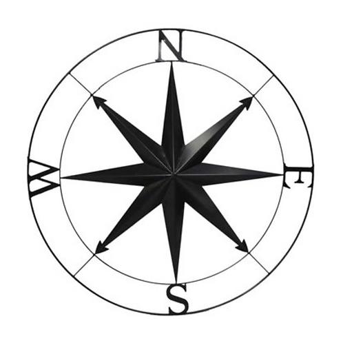 Black Round Compass