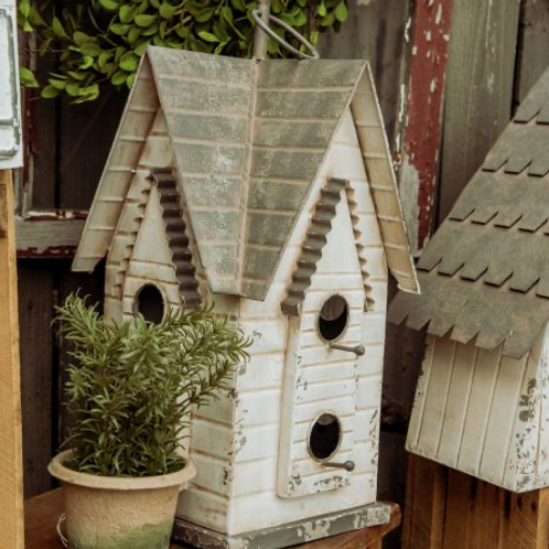 4 Sided Peaked Birdhouse