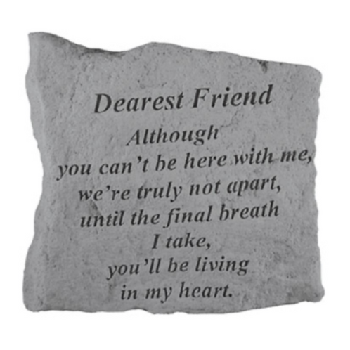 DEAREST FRIEND Although you can't…