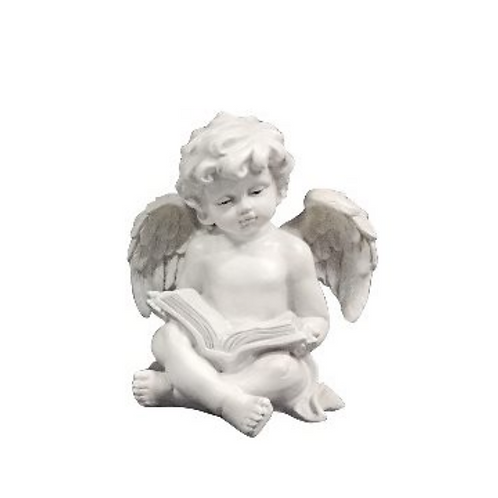 Angel Reading a Book, Resin