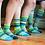 Thumbnail: Waterlily Crew Socks