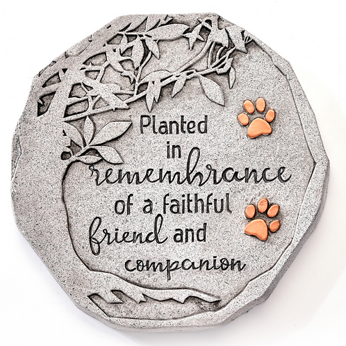 Pet Memorial Design Stepping Stone/Wall Plaque