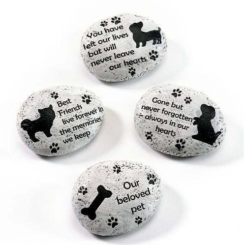 Pet Memorial Stones - 4 Assorted Styles