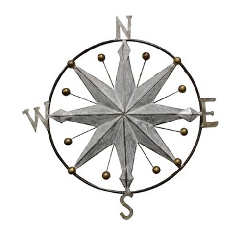 Round Medallion with Compass and Golden Knobs