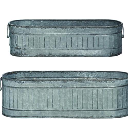 Metal Galvanised Trough - 2 sizes