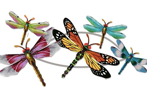 Horizontal Metal Dragonfly Wall Art