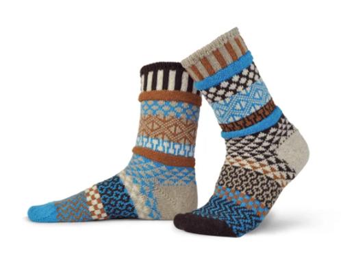 Walnut Wool Crew Socks