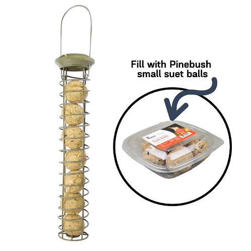 "Pinebush - 16"" Suet Tube Feeder"