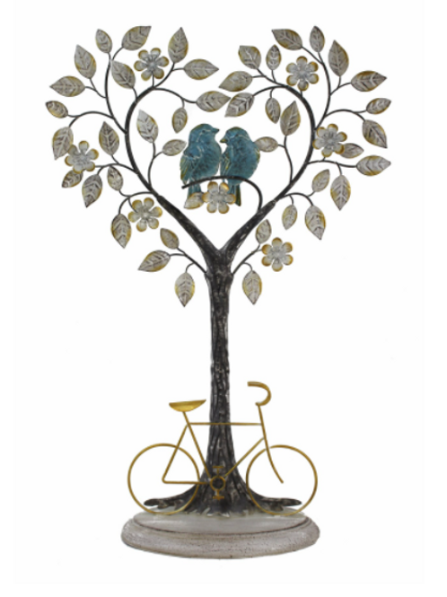 Lover Birds On Heart Shaped Tree with Bike Base