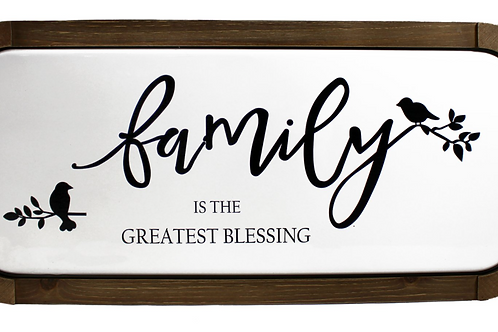 Wood & Metal Wall Plaque-Family...Blessing