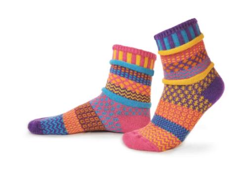 Carnation Crew Socks