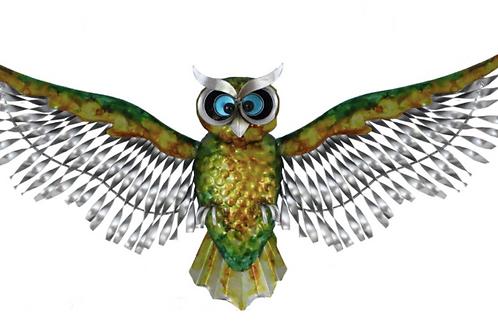 Metal Coloured Flying Owl