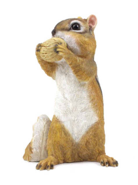 Polyresin Chipmunk with Nut