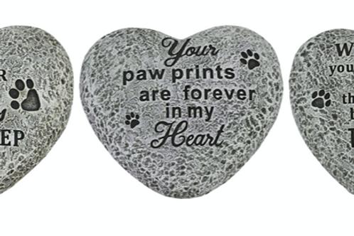 Heart Pet Memorial Stones
