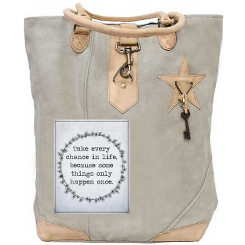Take Every Chance Canvas Tote