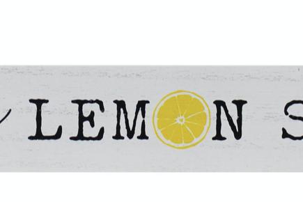 MDF Lemonade Sign Block