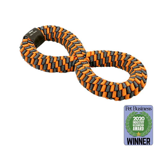 Orange Braided Infinity Tug Toy