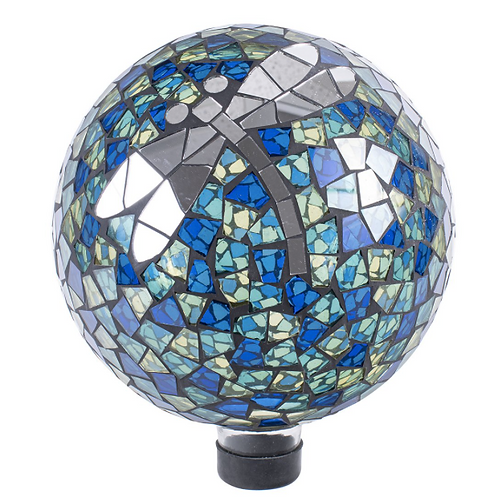 "10"" Dragonfly Mosaic Gazing Globe"