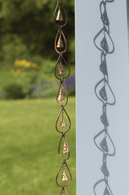 Leaf with Bell Rain Chain