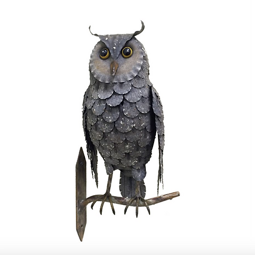 Owl Sitting on a Branch, Metal