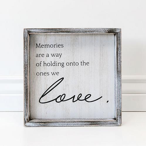 """Memories"" - Wood Sign - 10""x10"""