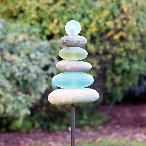 River Stone Garden Stake