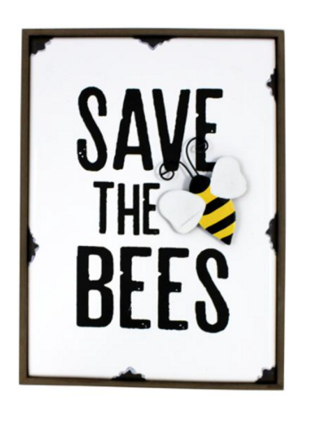 Save the Bees Shelf Plaque