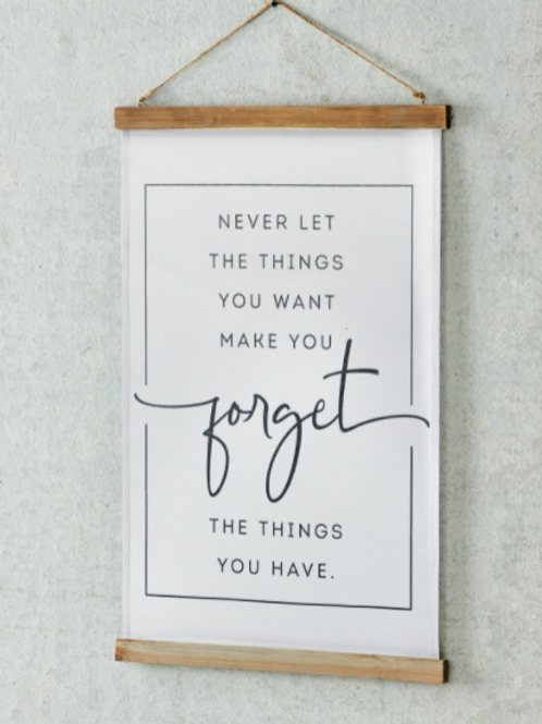 Canvas Wall Decor-Forget