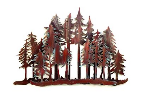 Large Two Tones Pine Tree Forest