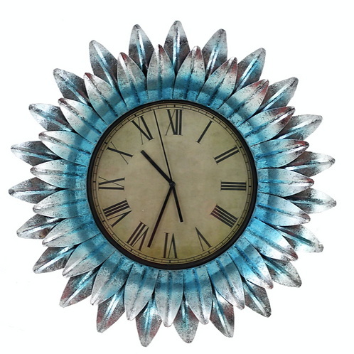 Flower Shaped Wall Clock