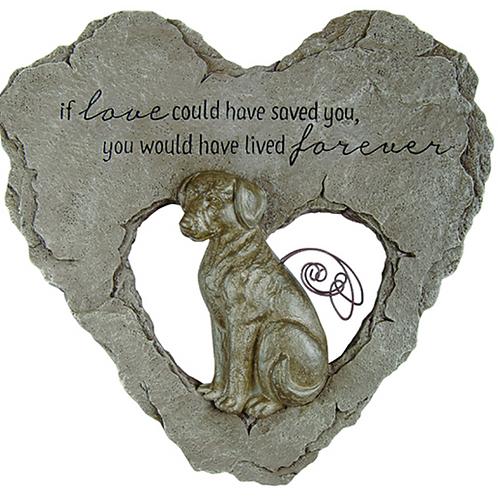 Dog Devoted Angel Stepping Stone