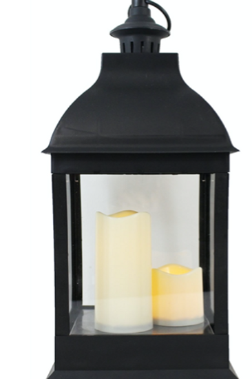 LED Lantern with 3 Candles