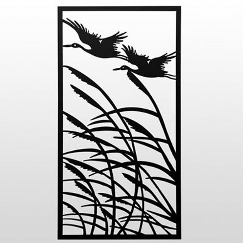 Laser Cut Wall Art - Cranes in Flight