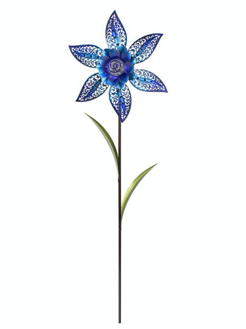 Filigree Flower Pinwheel - Blue