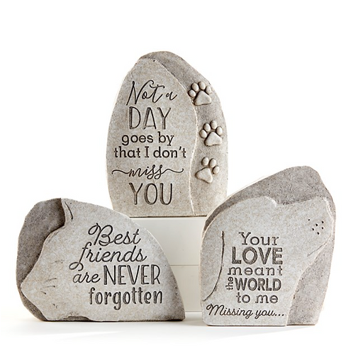 Up right Pet Memorial Stones - 3 Assorted Styles