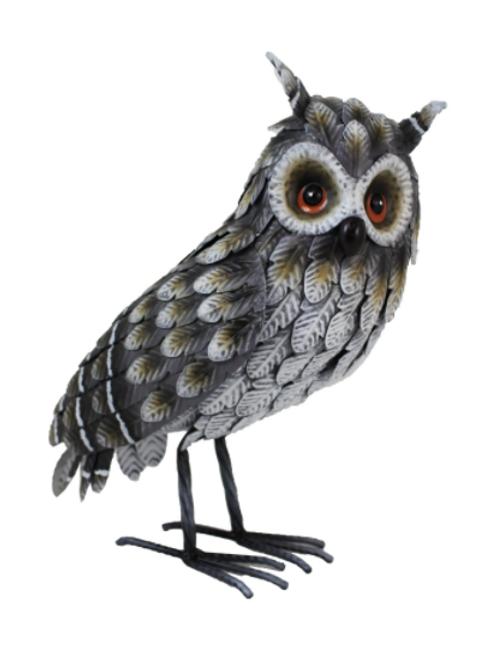 Metal Horned Owl