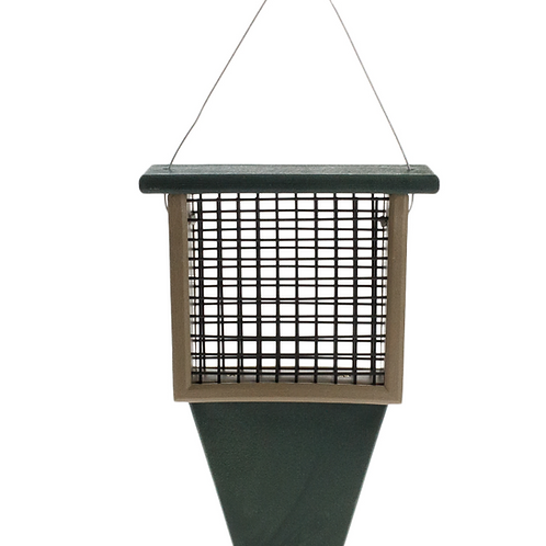 Suet Feeder with Tail Prop - Hunter Driftwood