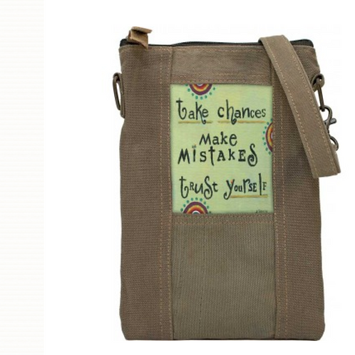 Take Chances - Recycled Military Tent - Crossbody Bag